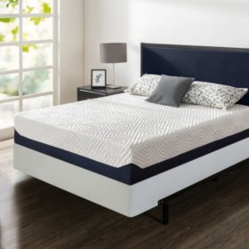 """Zinus Night Therapy 12"""" Breathable Cooling Memory Foam Full Mattress and BiFold Box Spring Set"""