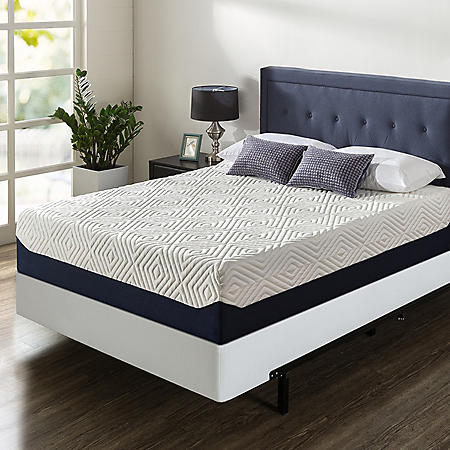 "Zinus Night Therapy 14"" Breathable Cooling Memory Foam King Mattress and BiFold Box Spring Set"