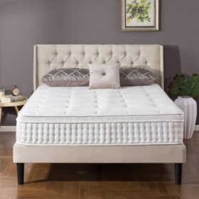 "Zinus Night Therapy iCoil 12"" Euro box Top Spring King Mattress"