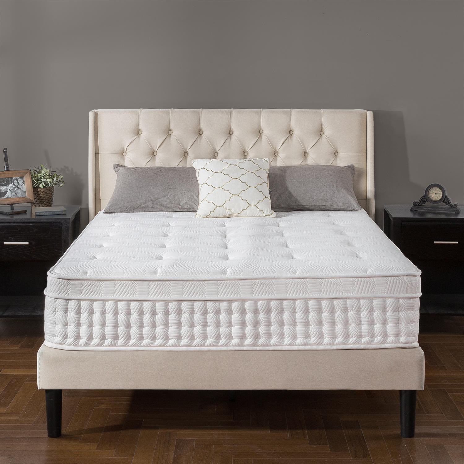 "Zinus Night Therapy iCoil 13"" Deluxe Euro Box Top Spring Queen Mattress"