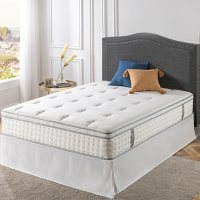 """ZINUS Night Therapy 12"""" Euro Top Hybrid Twin Mattress and Bed Frame Set"""