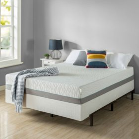 "Zinus Night Therapy Memory Foam 10"" Pressure Relief Queen Mattress and BiFold Box Spring Set"
