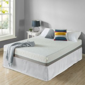 "Zinus Night Therapy Memory Foam 10"" Pressure Relief Queen Mattress and SmartBase Set"
