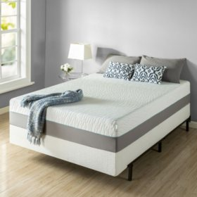 "Zinus Night Therapy Memory Foam 13"" Pressure Relief King Mattress and Bifold Box Spring Set"