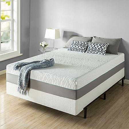 """Zinus Night Therapy Memory Foam 13"""" Pressure Relief Queen Mattress and Bifold Box Spring Set"""