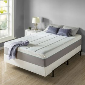 """Zinus Night Therapy Memory Foam 14"""" Pressure Relief Queen Mattress and BiFold Box Spring Set"""