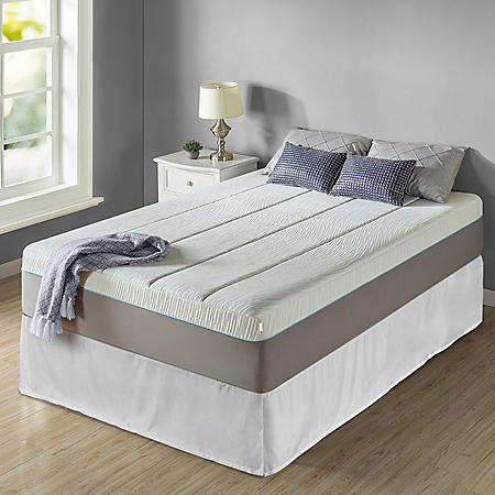 """Zinus Night Therapy Memory Foam 14"""" Pressure Relief Queen Mattress and SmartBase Set"""