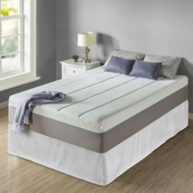"Zinus Night Therapy Memory Foam 14"" Pressure Relief Queen Mattress and SmartBase Set"