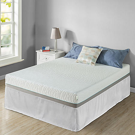 "Zinus Night Therapy Memory Foam 8"" Pressure Relief Twin XL Mattress and SmartBase Set"