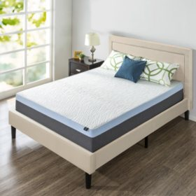 "Zinus Night Therapy 13"" Gel Memory Foam Queen Mattress & Platform Bed Set"