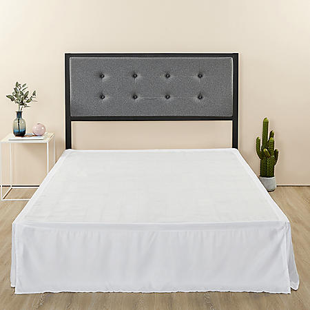 """Zinus Night Therapy Button Tufted Upholstered Full Headboard and 14"""" SmartBase Set (Assorted Colors)"""
