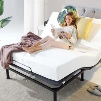 Zinus Night Therapy Queen Adjustable Bed Base with Custom Leg Height
