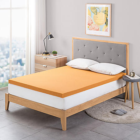 """Zinus Night Therapy 3"""" Copper Memory Foam Mattress Topper (Various Sizes)"""