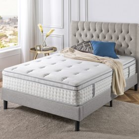 """Zinus Night Therapy iCoil 13"""" Deluxe Euro Box Top Spring Mattress- King"""