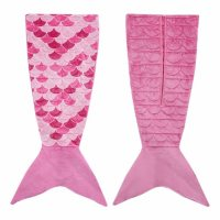 Kids 5-lb. Mermaid Fishtail Weighted Blanket (Pink or Purple)
