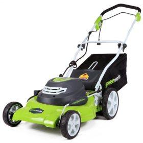 "GreenWorks 12 Amp 20"" Corded Lawn Mower"