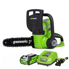 """GreenWorks G-MAX 40V 12"""" Cordless Chainsaw with 2AH Battery and Charger Inc."""