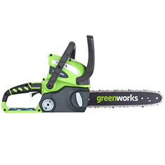 """GreenWorks G-MAX 40V 12"""" Cordless Chainsaw - Battery and Charger Not Included"""