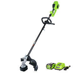 "GreenWorks G-MAX 40V Digipro 14"" String Trimmer with 4AH Battery and Charger Included - Attachment Capable"