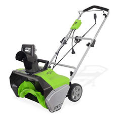 """GreenWorks 20"""" Electric Snow Thrower - 13 Amp (Corded)"""