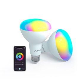Atomi Smart Wi-Fi Smart Color LED BR30 Bulb (2 Pack)