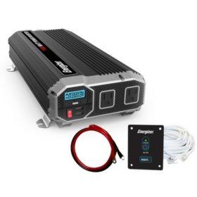 Energizer 1100 Watt 12V 60Hz Power Inverter with Remote Control