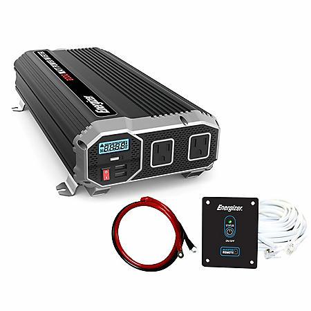 Energizer 2000 Watt 12V 60Hz Power Inverter with Remote Control