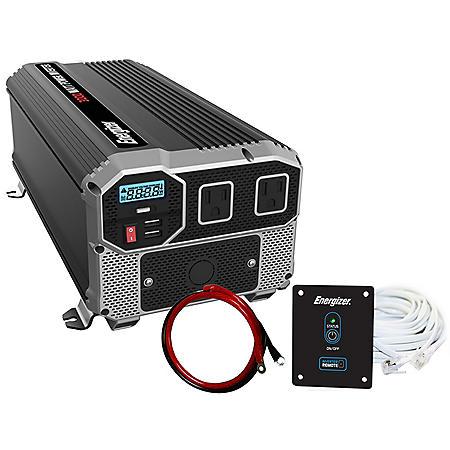 Energizer 3000 Watt 12V 60Hz Power Inverter with Remote Control