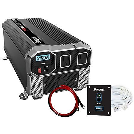 Energizer 4000 Watt 12V 60Hz Power Inverter with Remote Control