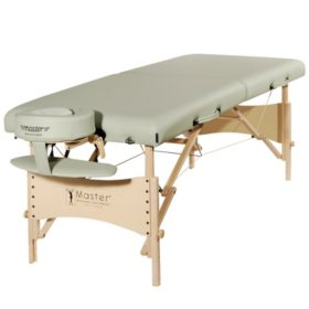 "Master Massage 28"" Paradise Portable Massage Table Package, Lily Green"