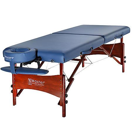 "Master Massage 30"" Newport Portable Massage Table Package - Royal Blue"
