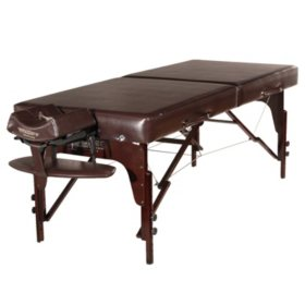 "Master Massage 31"" Carlyle Portable Massage Table Package, Chocolate"