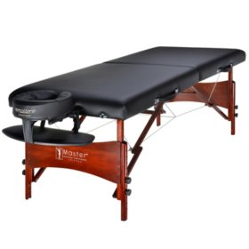 "Master Massage 30"" Newport Portable Massage Table Package, Black"