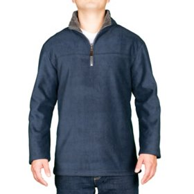 London Fog Men's Quarter-Zip Sherpa Lined Pullover