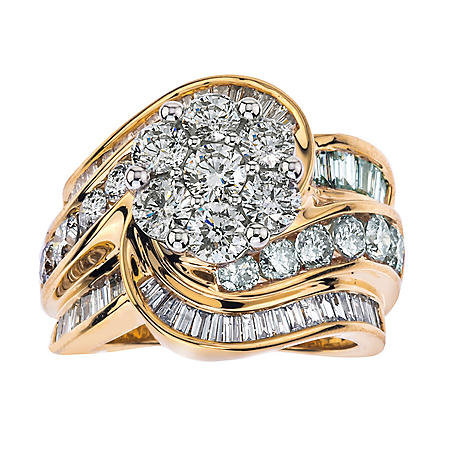 4.00 CT. T.W. Diamond Ring in 14k Two-Tone Gold (I,I1)