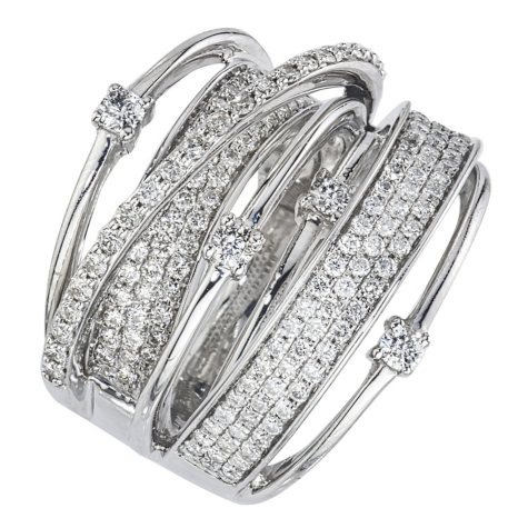 1.48 CT. T.W. Diamond Ring in 14K White Gold (I, I1)