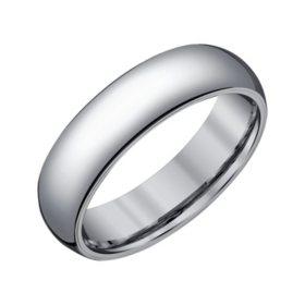 Men's 6mm Half-Round Grey Tungsten Wedding Band