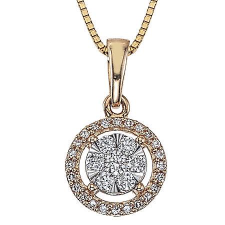 0.23 CT. T.W. Diamond Pendant in 14k Gold