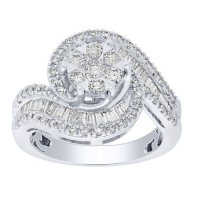0.96 CT. T.W. Diamond Engagement Ring in 14K White Gold
