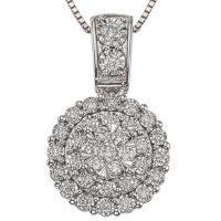 0.46 CT. T.W. Diamond Pendant in 14K White Gold