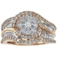 0.96 CT. T.W. Diamond Engagement Ring in 14K Gold