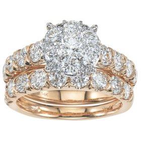 2.96 CT. T.W. Diamond Bridal Set in 14K Gold