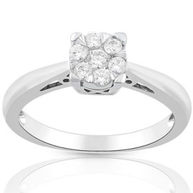 0.23 CT. T.W. Diamond Ring in 14K Gold