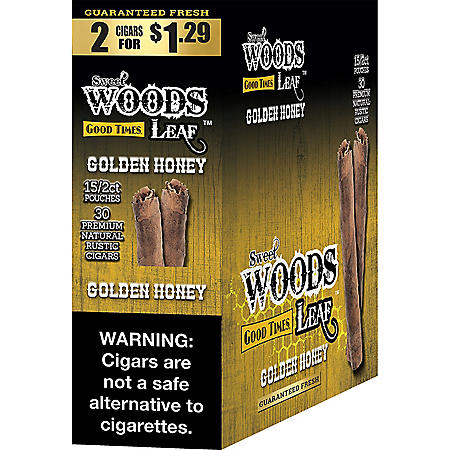 Sweet Woods Golden Honey Cigarillos, Pre-Marked 2/$1.29 (15 ct.)