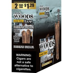 Sweet Woods Leaf Russian Cream Cigar Pre-Marked 2/$1.29 (2 ct., 15 pk.)