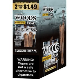 Sweet Woods Leaf Russian Cream Cigar Pre-Marked 2/$1.49 (2 ct., 15 pk.)