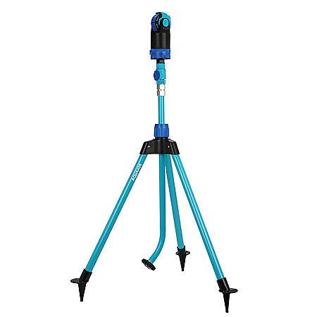 Aqua Joe AJ-6PSTB Indestructible Turbo Drive 360-Degree Telescoping Tripod Lawn and Garden Sprinkler/Mister