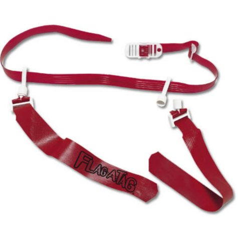 """Sonic Boom Flag-A-Tag® Belt - 42"""" Red - 12 pk."""