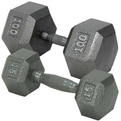 Hex Dumbbell with Ergonomic Handle - 35 lbs.