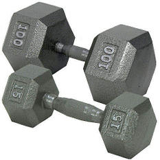 Hex Dumbbell with Ergonomic Handle - 40 lbs.